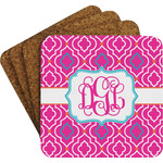 Colorful Trellis Coaster Set w/ Stand (Personalized)