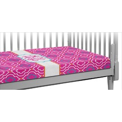Colorful Trellis Crib Fitted Sheet (Personalized)