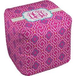 Colorful Trellis Cube Pouf Ottoman (Personalized)