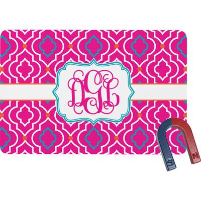 Colorful Trellis Rectangular Fridge Magnet (Personalized)