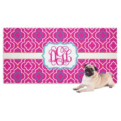 Colorful Trellis Pet Towel (Personalized)