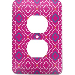 Colorful Trellis Electric Outlet Plate (Personalized)