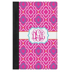 Colorful Trellis Genuine Leather Passport Cover (Personalized)