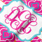 Colorful Trellis Hooded Baby Towel- Detail Close Up