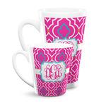 Colorful Trellis Latte Mug (Personalized)