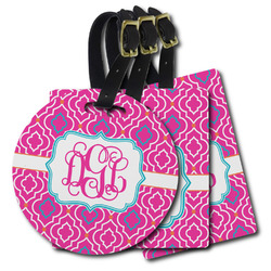 Colorful Trellis Plastic Luggage Tags (Personalized)