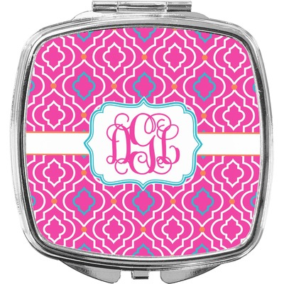 Colorful Trellis Compact Makeup Mirror (Personalized)