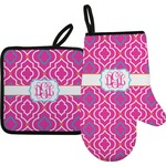 Colorful Trellis Oven Mitt & Pot Holder (Personalized)