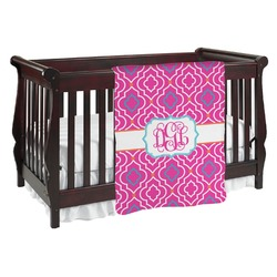 Colorful Trellis Baby Blanket (Personalized)