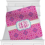 Colorful Trellis Minky Blanket (Personalized)