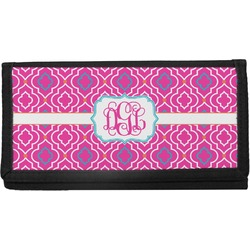 Colorful Trellis Canvas Checkbook Cover (Personalized)