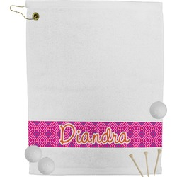 Colorful Trellis Golf Towel (Personalized)