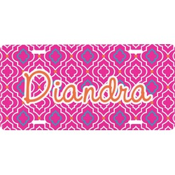 Colorful Trellis Front License Plate (Personalized)