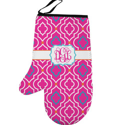 Colorful Trellis Left Oven Mitt (Personalized)