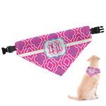 Colorful Trellis Dog Bandana (Personalized)