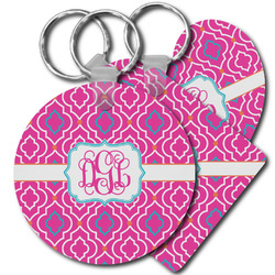 Colorful Trellis Plastic Keychains (Personalized)