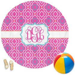 Colorful Trellis Round Beach Towel (Personalized)