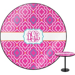 Colorful Trellis Round Table (Personalized)