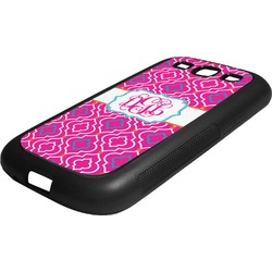 Colorful Trellis Rubber Samsung Galaxy 3 Phone Case (Personalized)