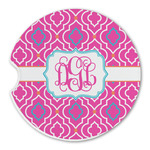 Colorful Trellis Sandstone Car Coasters (Personalized)