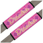 Colorful Trellis Seat Belt Covers (Set of 2) (Personalized)