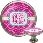 Colorful Trellis Cabinet Knob (Silver) (Personalized)