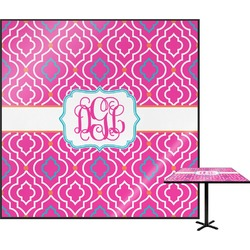 """Colorful Trellis Square Table Top - 24"""" (Personalized)"""