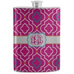 Colorful Trellis Stainless Steel Flask (Personalized)