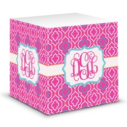 Colorful Trellis Sticky Note Cube (Personalized)