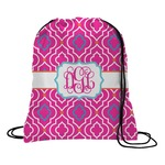 Colorful Trellis Drawstring Backpack (Personalized)