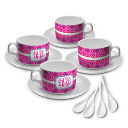 Colorful Trellis Tea Cup - Set of 4 (Personalized)
