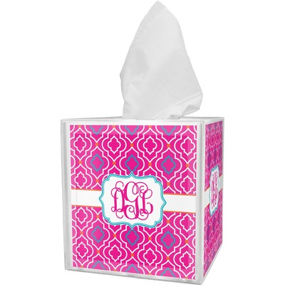Colorful Trellis Tissue Box Cover (Personalized)