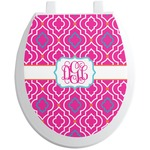Colorful Trellis Toilet Seat Decal (Personalized)