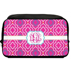 Colorful Trellis Toiletry Bag / Dopp Kit (Personalized)