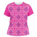 Colorful Trellis Women's Crew T-Shirt (Personalized)