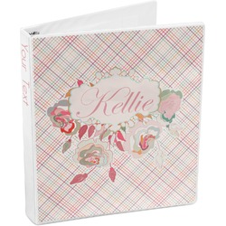 Modern Plaid & Floral 3-Ring Binder (Personalized)