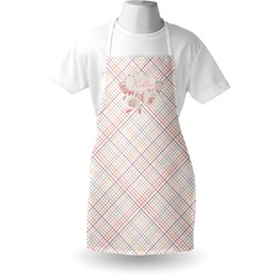 Modern Plaid & Floral Apron (Personalized)