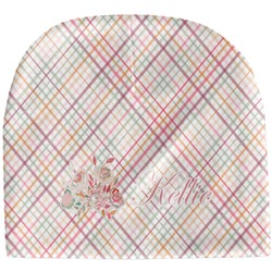 Modern Plaid & Floral Baby Hat (Beanie) (Personalized)