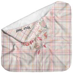 Modern Plaid & Floral Baby Hooded Towel (Personalized)