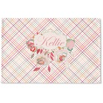 Modern Plaid & Floral Woven Mat (Personalized)