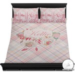 Modern Plaid & Floral Duvet Covers (Personalized)
