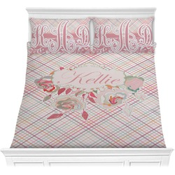 Modern Plaid & Floral Comforters (Personalized)
