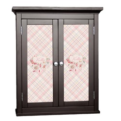 Modern Plaid & Floral Cabinet Decal - Custom Size (Personalized)