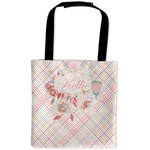 Modern Plaid & Floral Auto Back Seat Organizer Bag (Personalized)