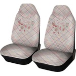 Modern Plaid & Floral Car Seat Covers (Set of Two) (Personalized)