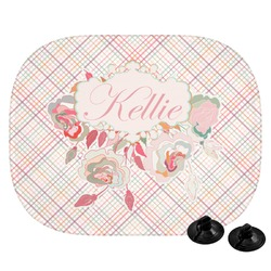 Modern Plaid & Floral Car Side Window Sun Shade (Personalized)