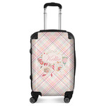 Modern Plaid & Floral Suitcase (Personalized)