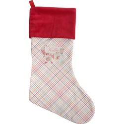Modern Plaid & Floral Christmas Stocking (Personalized)