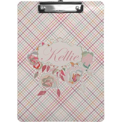 Modern Plaid & Floral Clipboard (Personalized)