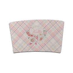 Modern Plaid & Floral Coffee Cup Sleeve (Personalized)